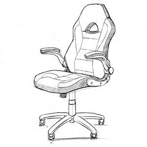 silla gaming barata Songmics diseño